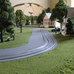 Model Train Backdrop Mural - City