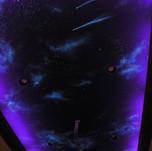 Glow in the Dark Night Sky Mural