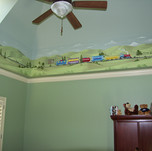 Train Mural for Kid's Room