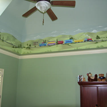 Train Mural for Kid's Room