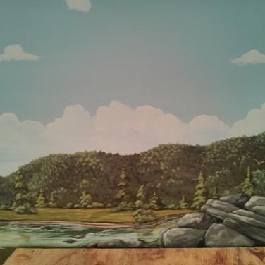 Model Train Backdrop Mural - Rocky