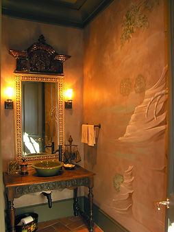 Traditional Mural in Bathroom
