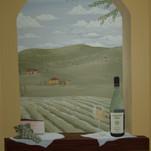 White wine mural