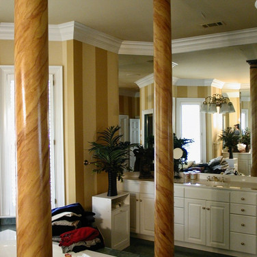 faux painted marble columns