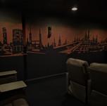 Modern Theatre Cityscape Mural
