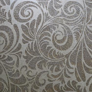 Glass patterned plaster