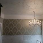 Damask: Swahili Metallic Silver Ceiling