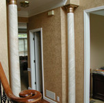 Faux Marble Columns with Metallic Gold C