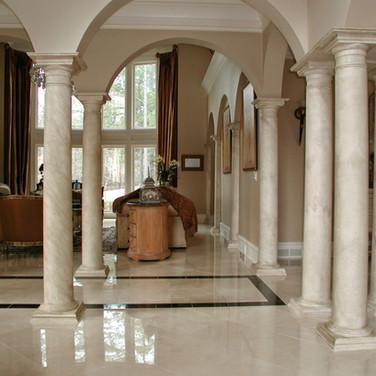 faux stone column