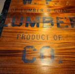 Chalk paint lettering on restaurant table