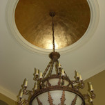 Metallic - Gold Leaf on ceiling with age
