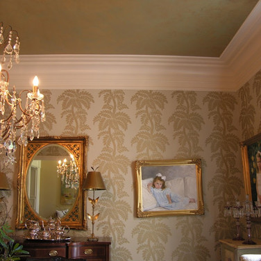 Ceiling glazed to match walls