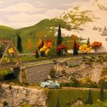 Model Train Backdrop Mural - Spring