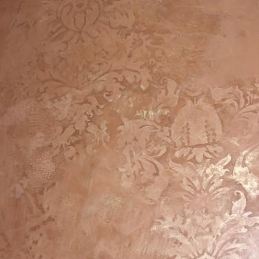 Venetian plaster with design