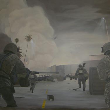 Modern Army mural