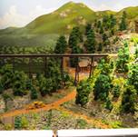Model Train Backdrop Mural - Mountains