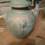 faux copper patina on lamp