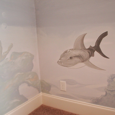 Kid's Underwater Mural - Shark
