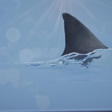 Seafood-Restaurant Shark Mural