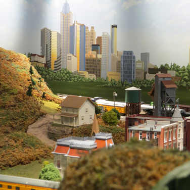 Model Train Backdrop Mural