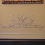 Scroll picture molding murals lower part