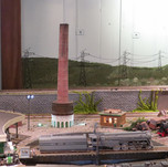 Model Train Backdrop Mural - Industrial