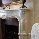 faux glazed mantle fireplace