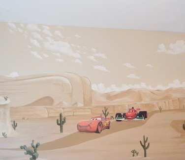 Cars Mural for Kids