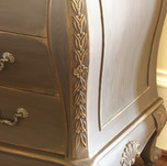 aged and distressed nightstand