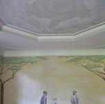 African Kid's Mural - Monkey Family