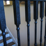 Metallic - Handrail with aged spindles.j