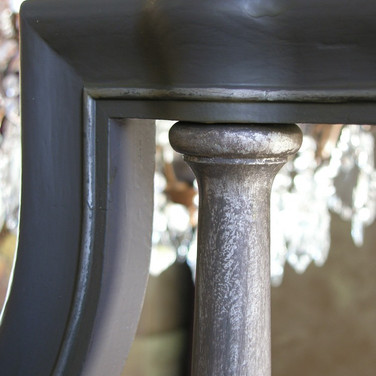 Aged Handrail with Metallic Silver Mulep