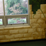 Elementary School Library Mural - Aztec