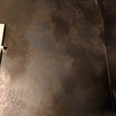 Faux Rusted Steel Plate