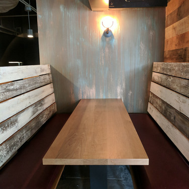 Faux barn wood restaurant booths.jpg
