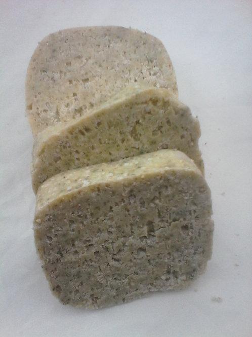 Savon artisanal purifiant : Gros sel & Menthe poivrée