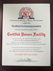 Petcare Facility Certified