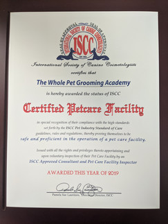 Petcare Facility Certified