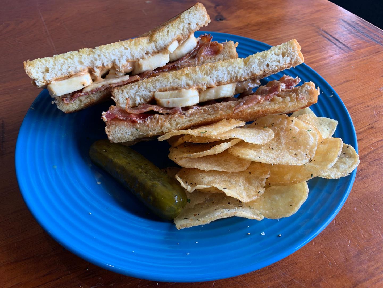 Bacon, Peanut Butter & Banana Sandwich