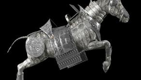 Un cavallo con la pelle d'argento
