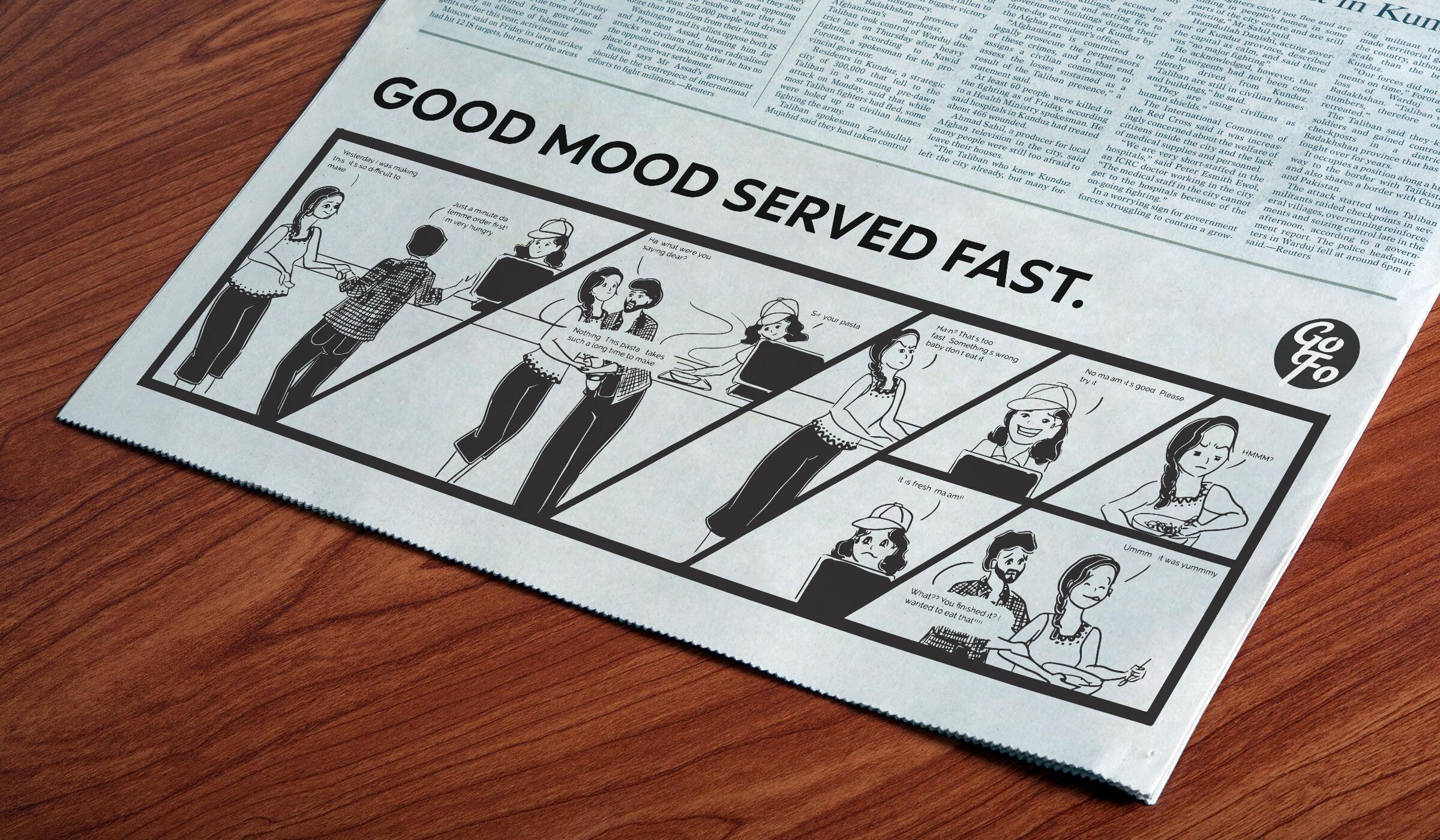 Go Foods Foodtruck Newspaper Ad