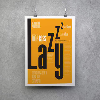 Lazy - Theatre Play Poster Design