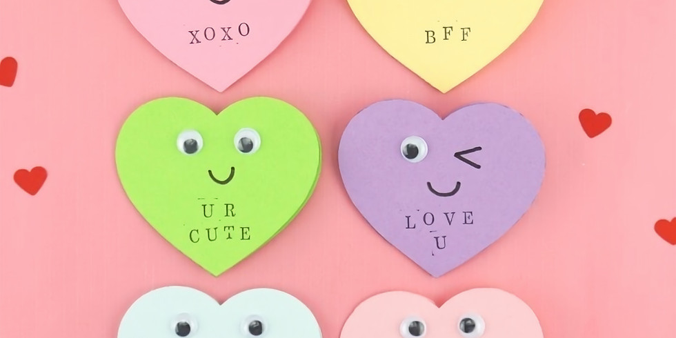 Take home Valentine Card supplies
