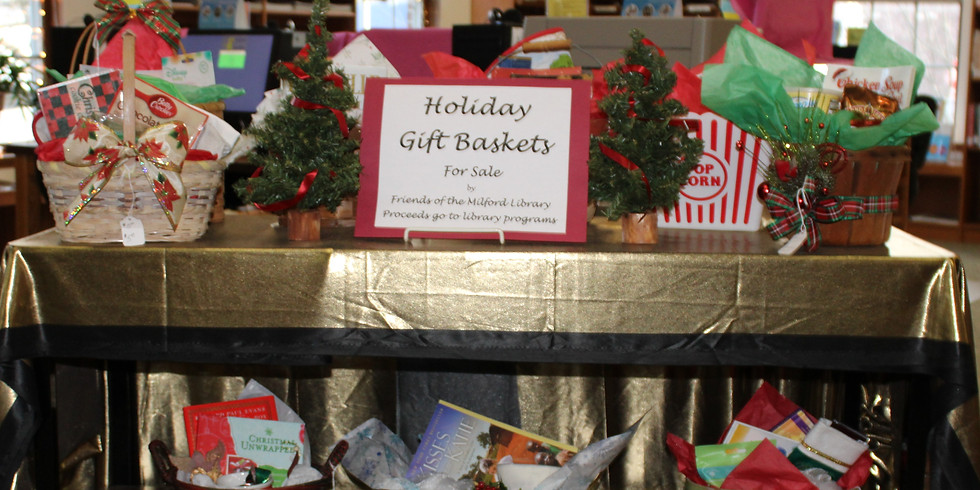 Friends of the Library gift baskets for sale