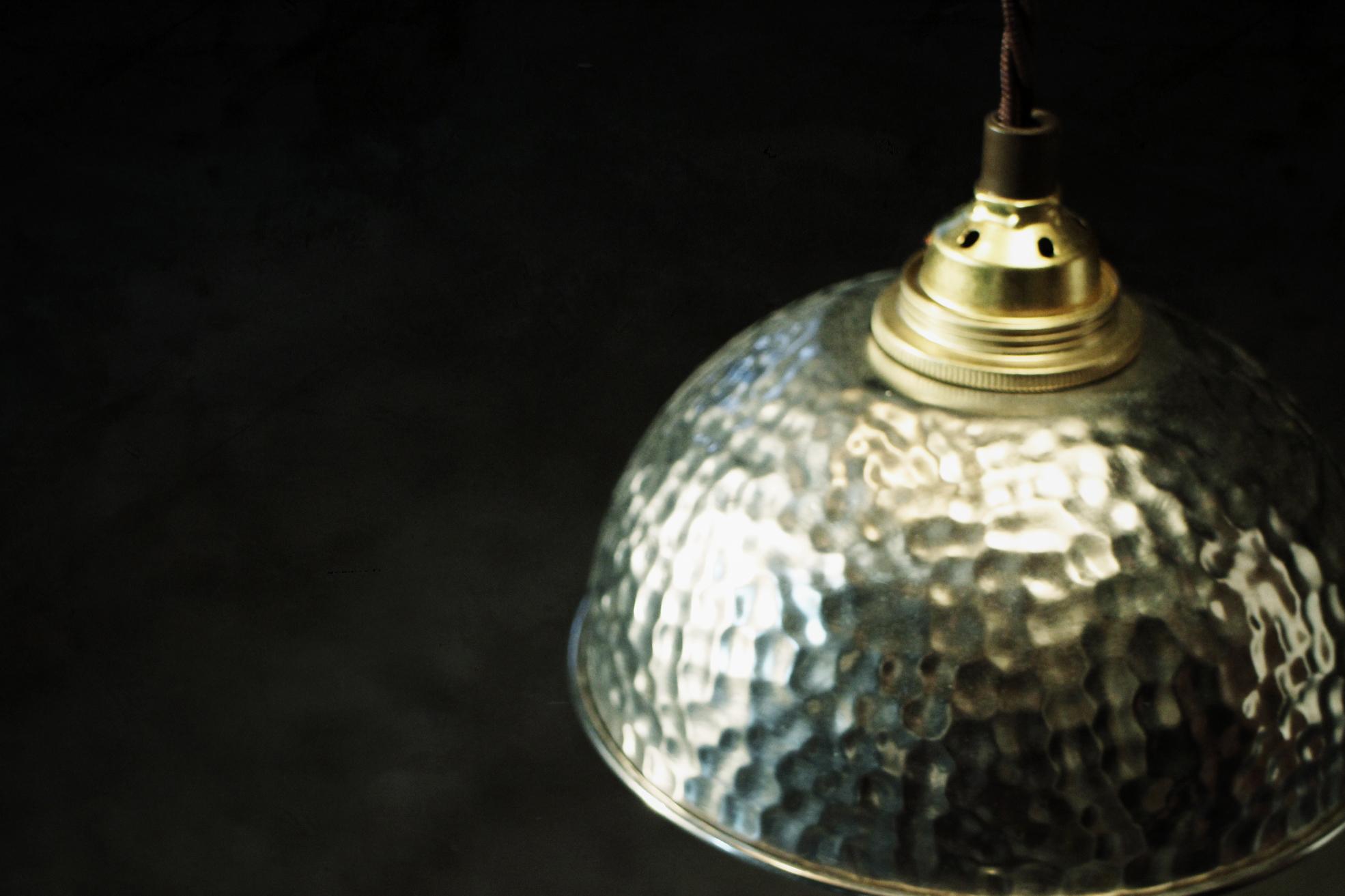 lampe gehämmerte schale