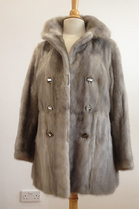 Vintage Female Azurine Mink Fitted 3/4 size12/14