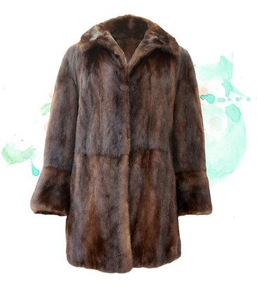 Ranch Mink Coat Three Quarter