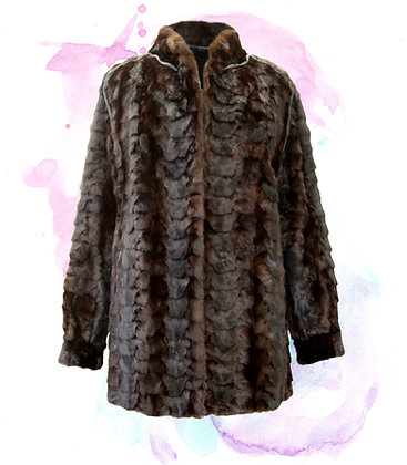 Mink Piece Jacket with Ranch Mink Collar