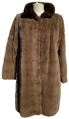 Brown Sheered Mink and Brown Shower Proof Reversible