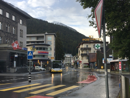 """""""Davos Post-Platz with Posthotel and Casino"""